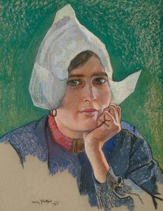 Willy Sluiter | A Volendam girl (portrait of Hilde Buter)