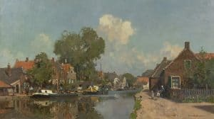 Cornelis Vreedenburgh | Zonnig stadsgezicht