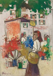 Jan Rijlaarsdam | Vrouw bij een bloemenstal