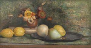 Jaap Weijand | Stilleven met fruit op een tinnen schaal
