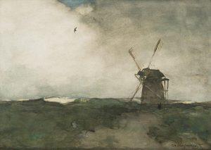 Hendrik Johannes Weissenbruch | Windmolen bij Dekkersduin