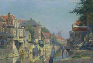 Hendrik Jan Wolter | Zonnig gezicht op de binnenhaven van Gorinchem