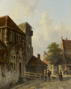 Adrianus Eversen | Hollands stadsgezicht