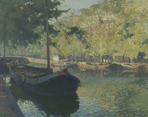 Anthonie Pieter Schotel | De Herengracht in Amsterdam op een zonnige dag