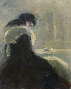 Anthonie Pieter Schotel | Vrouw met sigaret