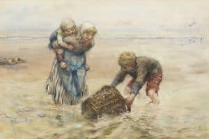 Bernardus Johannes Blommers | Visserskinderen in de branding