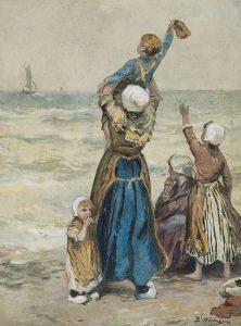 Bernardus Johannes Blommers | Uitzwaaien van de vissers