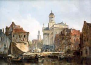 Johannes Bosboom | Gezicht op Utrecht met Domkerk en Augustinuskerk