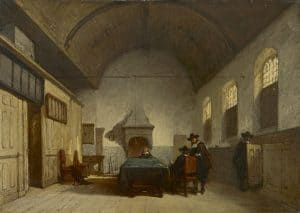 Johannes Bosboom | De consistoriekamer van de Kapelkerk in Alkmaar