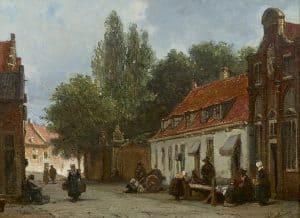 Johannes Bosboom | Straatje in Den Haag