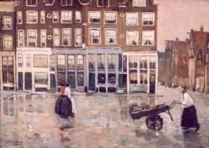 George Hendrik Breitner | Gezicht op het Leidseplein, Amsterdam