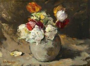 George Hendrik Breitner | Bloemen in een vaas