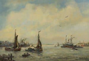 Evert Moll | Bij de haven van Rotterdam