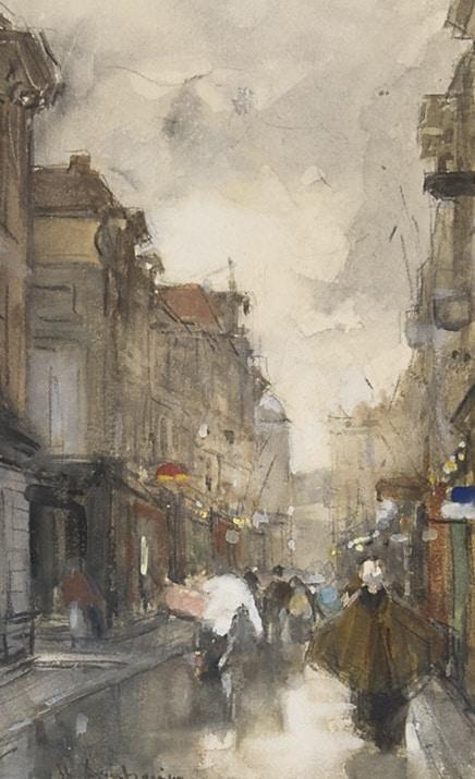 Floris Arntzenius | Wandelen door de Spuistraat, Den Haag