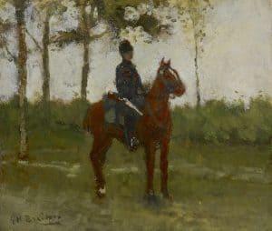 George Hendrik Breitner | Een huzaar
