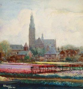 Albert Hemelman | Kleurrijke bollenvelden bij Lisse