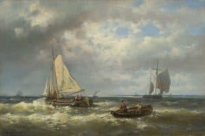 Abraham Hulk | Zeilschepen voor de kust
