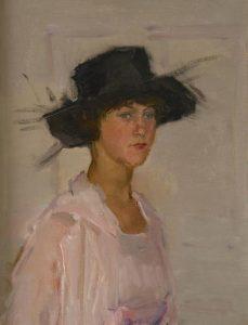 Isaac Israëls   Dame met zwarte hoed