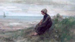 Jozef Israëls | Meisje in de duinen
