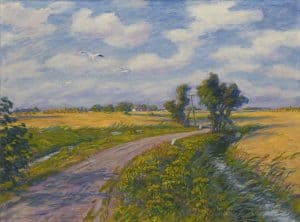 Johan Dijkstra | A summery view on the 'Antumerweg' in Garnwerd