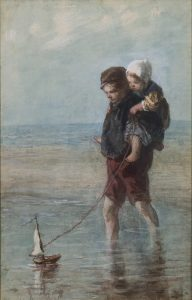 Jozef Israëls | Pootje baden