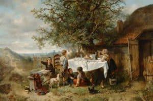 Mari ten Kate | Kinderen spelend bij de picknicktafel
