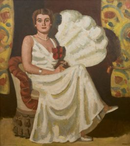 Kees Maks | Young woman seated with fan