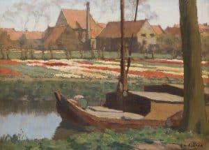 Anton Koster | Tulpenkwekerij aan de Kerklaan te Heemstede