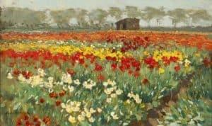 Anton Koster | Anton Koster - Tulpenvelden in bloei