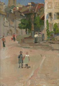 Isaac Israëls   Kinderen op het dorpsplein