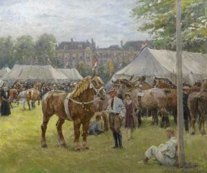 Jan Hoynck van Papendrecht | De nationale trekpaardententoonstelling op het Malieveld