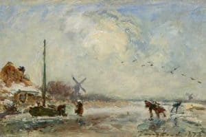 Johan Barthold Jongkind | Winter in Holland