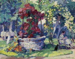Roméo Dumoulin | Vrouw in bloementuin