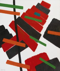 Willem Hussem | Composition with red, green and black