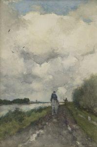Hendrik Johannes Weissenbruch | Ruiters op het jaagpad bij Noorden