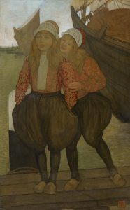 Nico Jungmann | Two children in the harbour of Marken