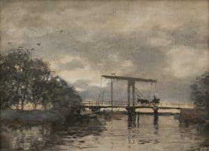 Willem Bastiaan Tholen | Hollandse vaart met ophaalbrug