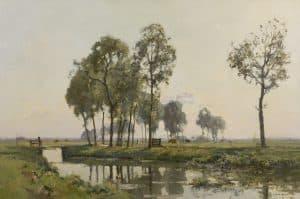 Cornelis Vreedenburgh | Koeien in een zonnig landschap bij Bunschoten