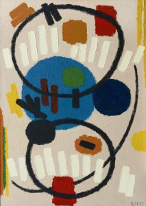 Willem Hussem | Abstracte compositie