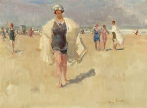 Isaac Israëls   Dame op het strand van Viareggio