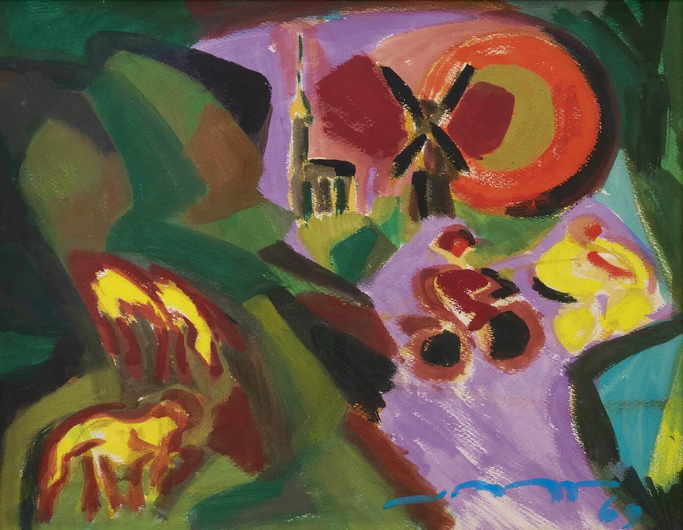 Koos van Bruggen - Expressionistisch landschap