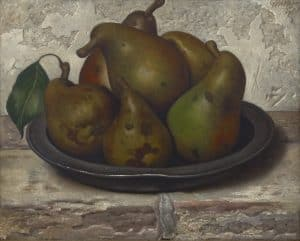 Gerard Röling | Still life with pears in a tin bowl