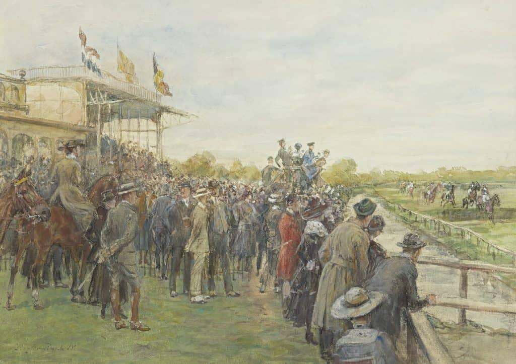 Jan Hoynck van Papendrecht | Paardenrace bij Duindigt, Wassenaar
