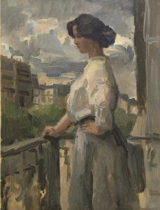 Isaac Israëls   Jonge vrouw op een balkon in Parijs