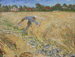Johan Dijkstra | Oogstende boer