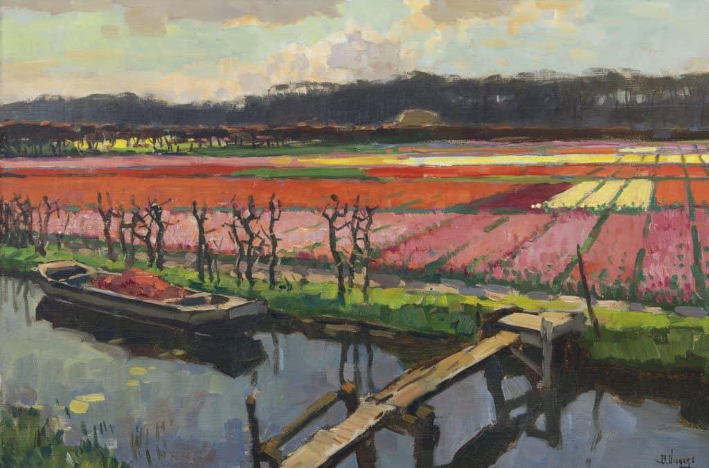 Ben Viegers | Bloeiende tulpenvelden langs vaart