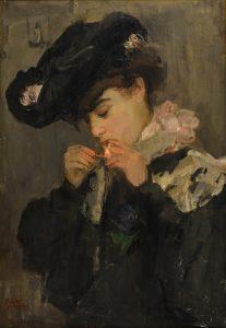 Isaac Israëls   Jonge vrouw met sigaret