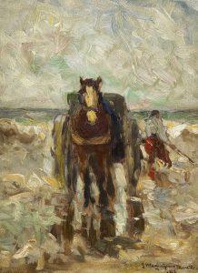 Gerhard Arij Ludwig 'Morgenstjerne' Munthe | Schelpenvisser op het strand