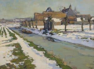 Ben Viegers | Knotwilgen in de winter, omgeving Sassenheim/Lisse