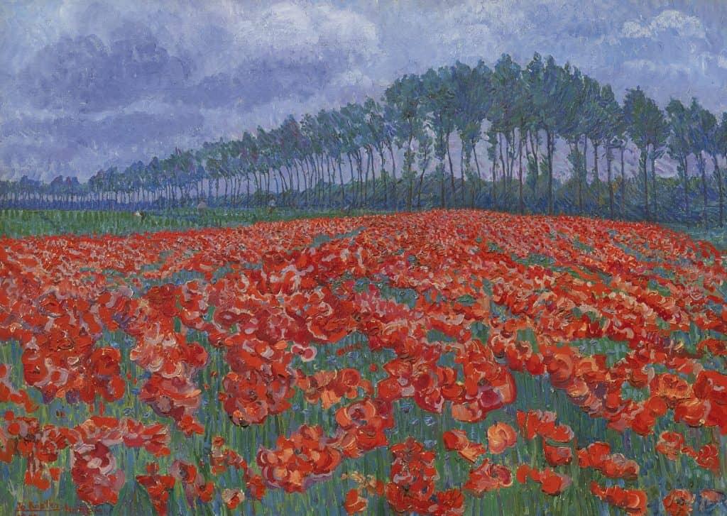 Jo Koster van Hattem   Bloemenveld in volle bloei bij Hattem